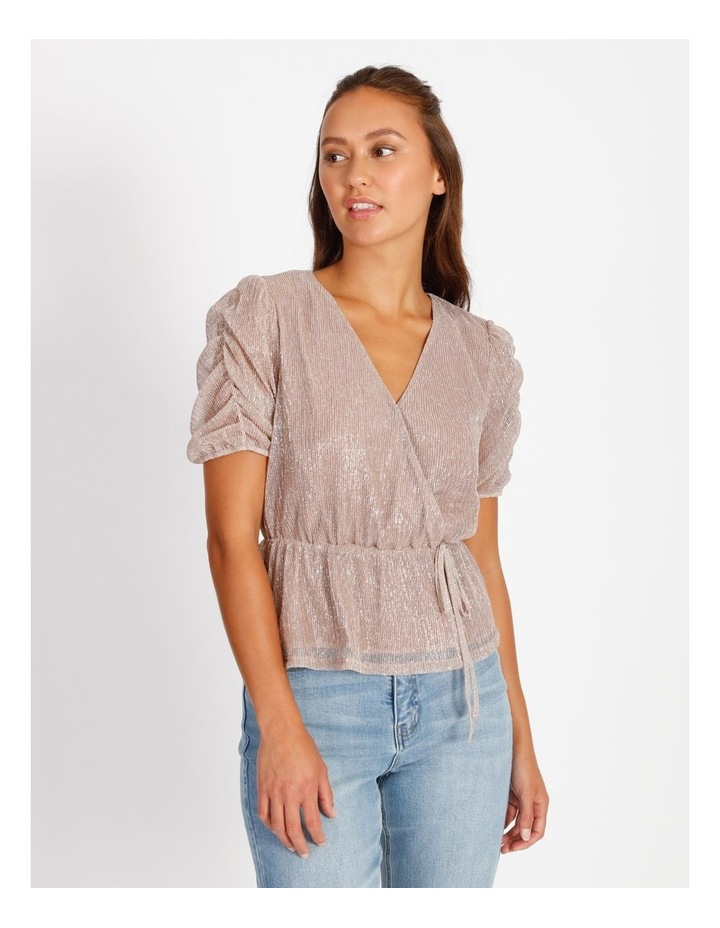 Ruched Plisse Top image 1