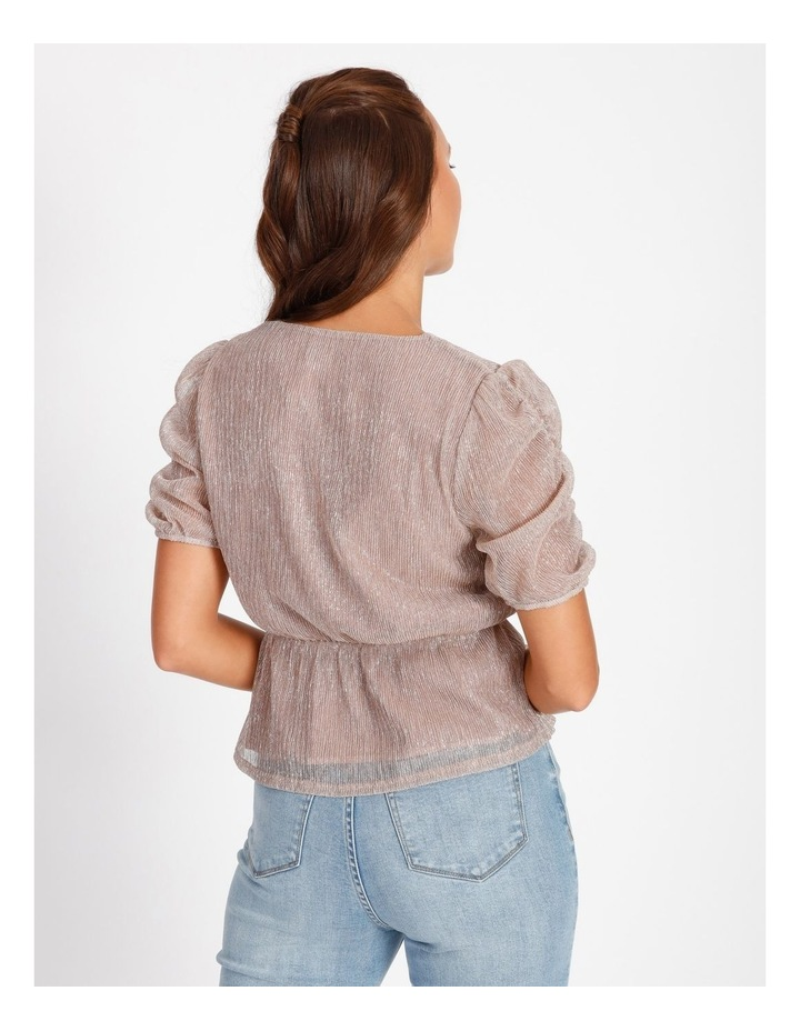 Ruched Plisse Top image 3