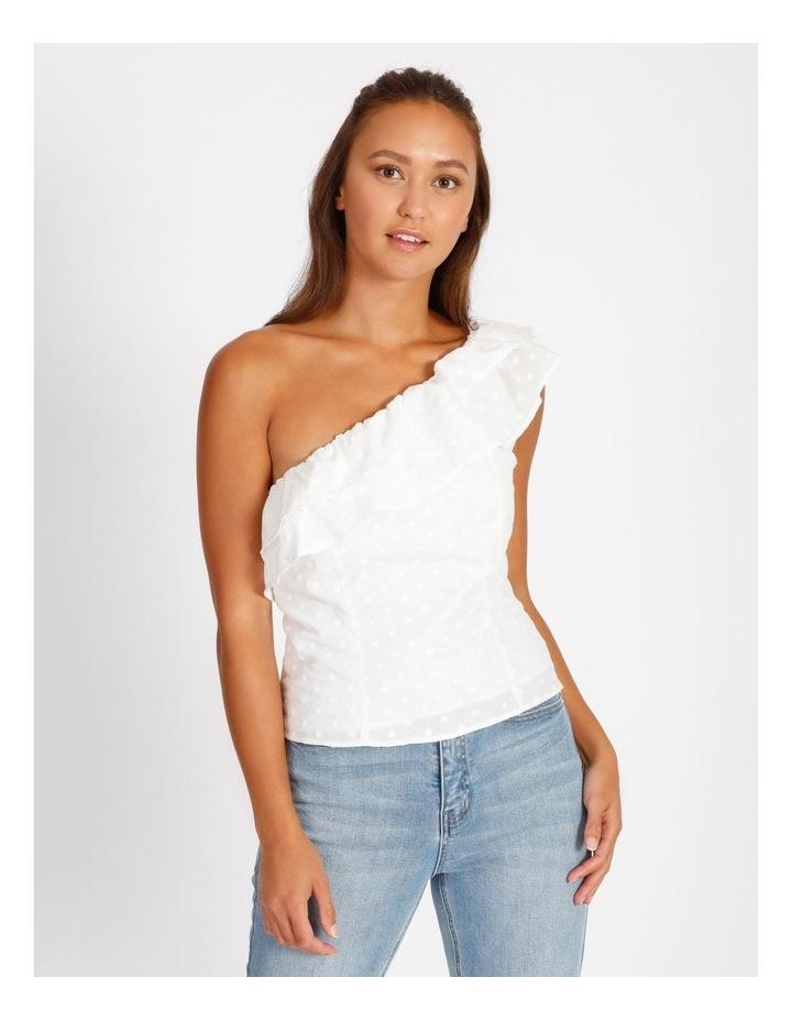 One Shoulder Cotton Spot Top image 1
