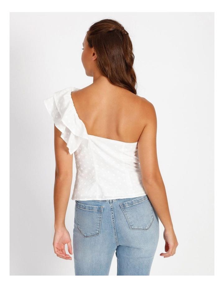 One Shoulder Cotton Spot Top image 3