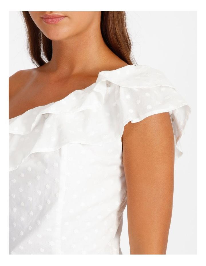 One Shoulder Cotton Spot Top image 4