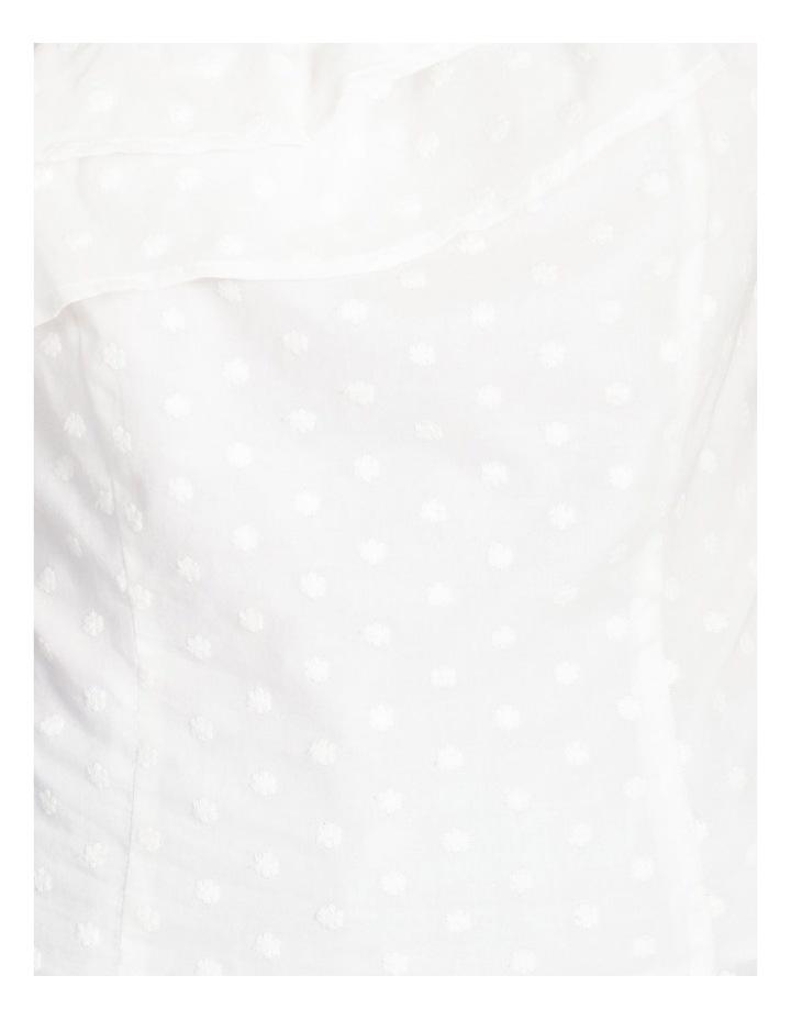 One Shoulder Cotton Spot Top image 5