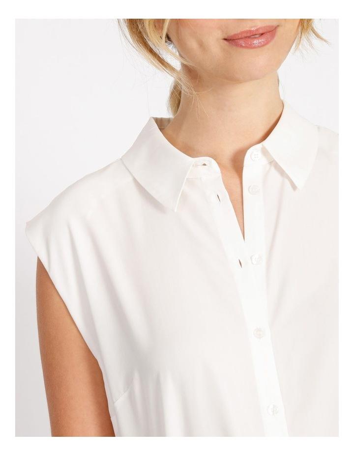 Power Shoulder Modal Blend Shirt image 4