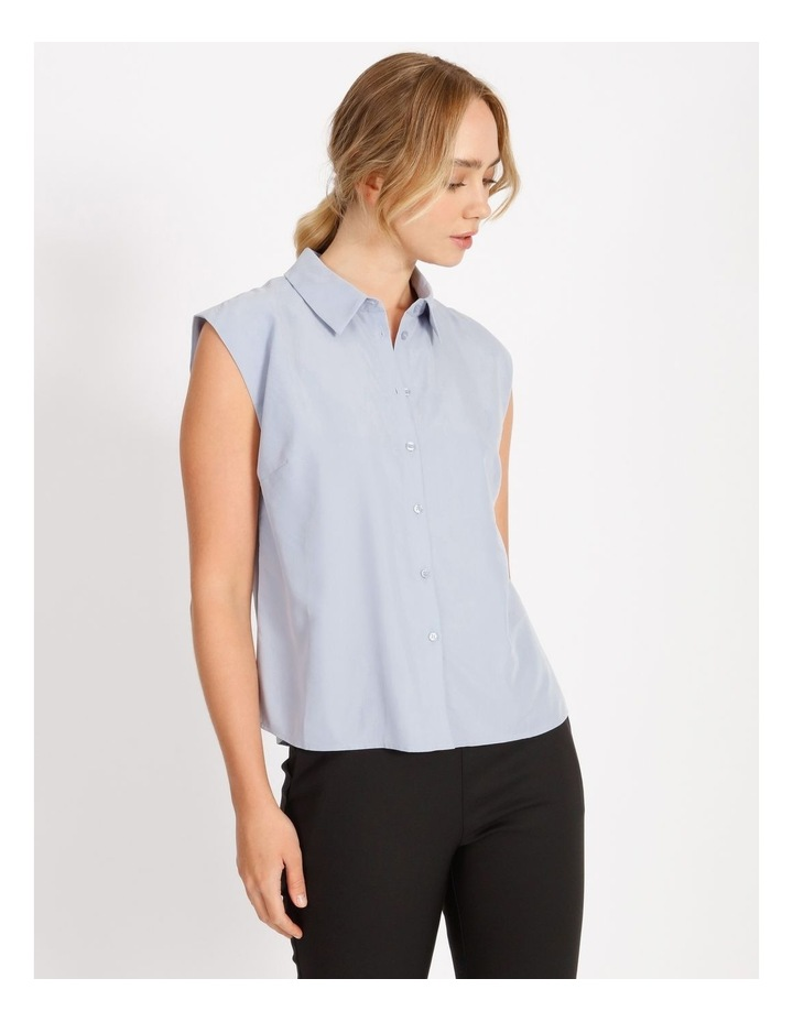 Power Shoulder Modal Blend Shirt image 1