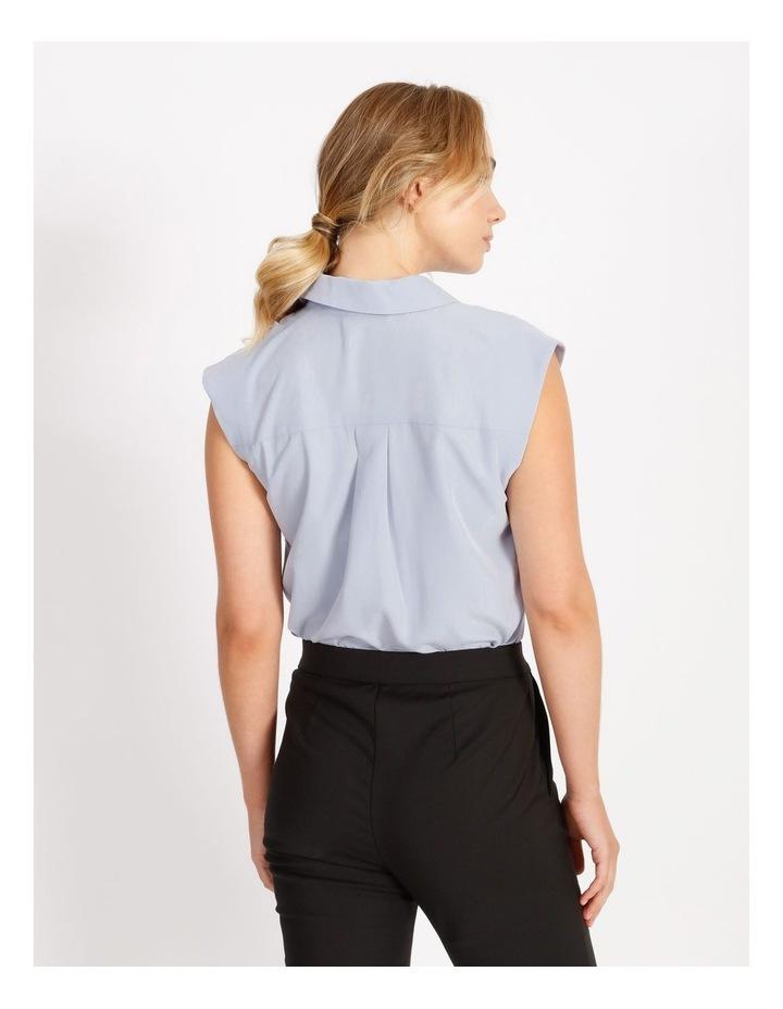 Power Shoulder Modal Blend Shirt image 3