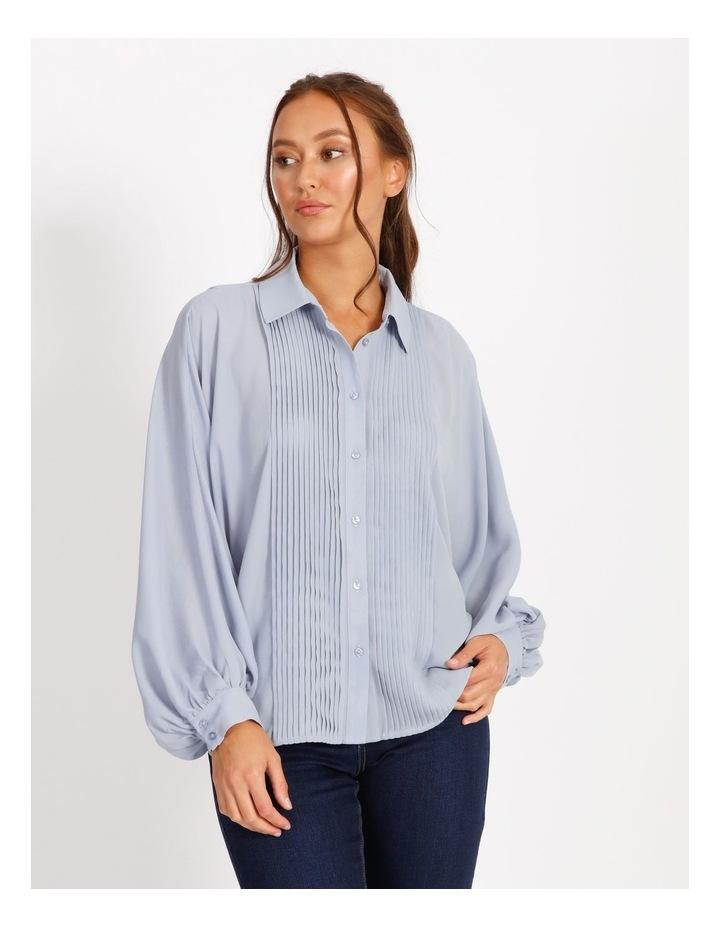 Pintuck Blouson Sleeve Shirt image 1
