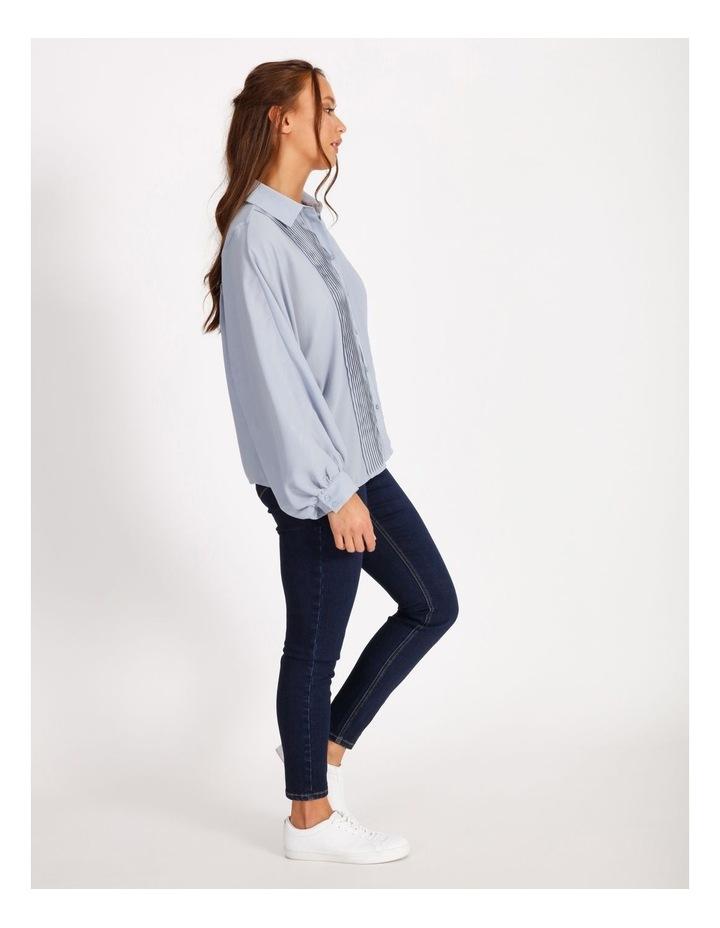 Pintuck Blouson Sleeve Shirt image 2