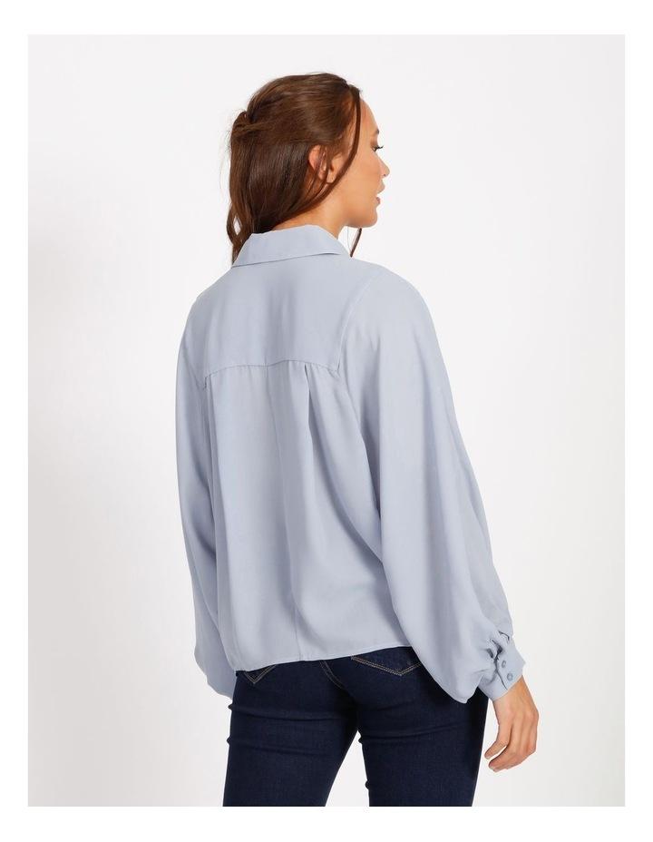 Pintuck Blouson Sleeve Shirt image 3