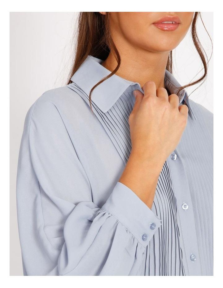Pintuck Blouson Sleeve Shirt image 4