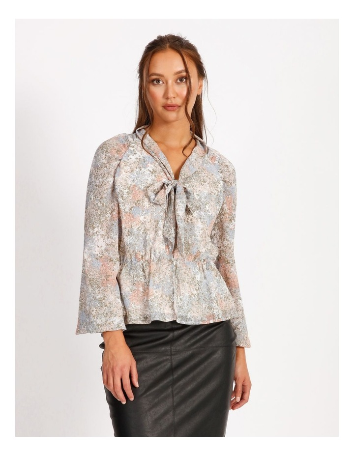 Statement Pussy Bow Sheer Blouse image 1