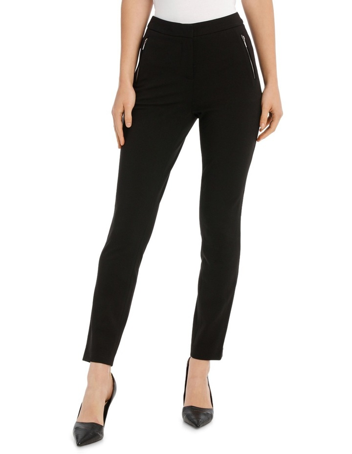 New York Skinny Pant With Zips image 1