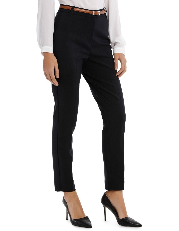 Straight Leg Belted Pant - Navy image 2