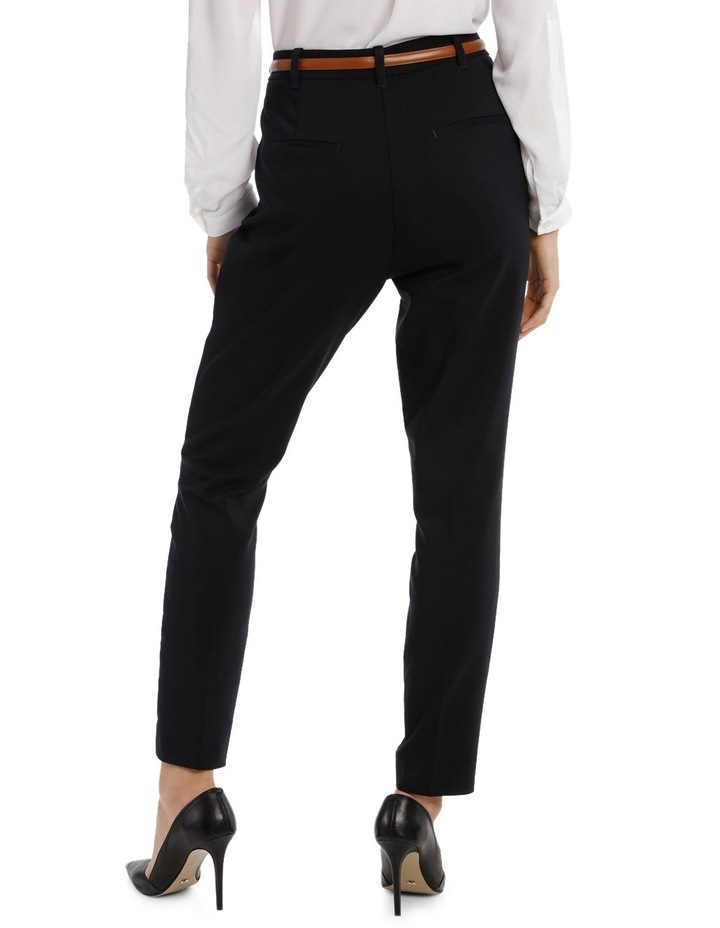 Straight Leg Belted Pant - Navy image 3