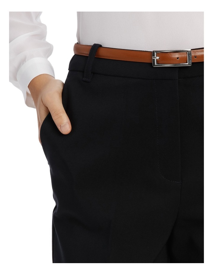 Straight Leg Belted Pant - Navy image 4