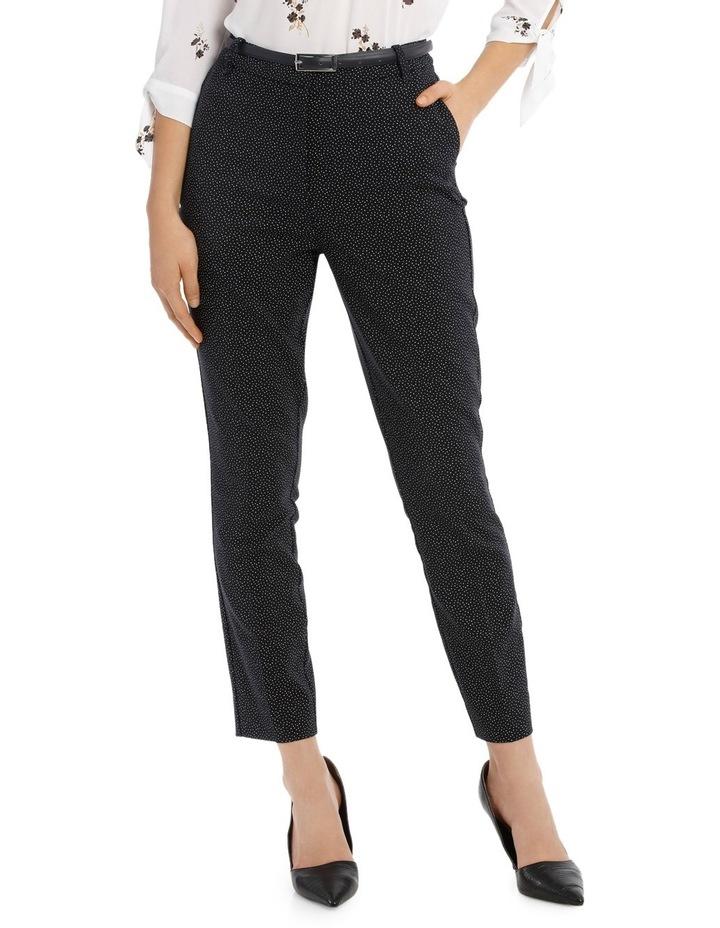 Straight Leg Belted Pant - Scatter Dot image 1