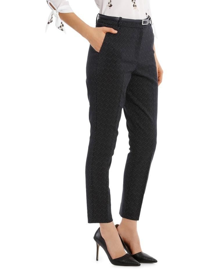 Straight Leg Belted Pant - Scatter Dot image 2