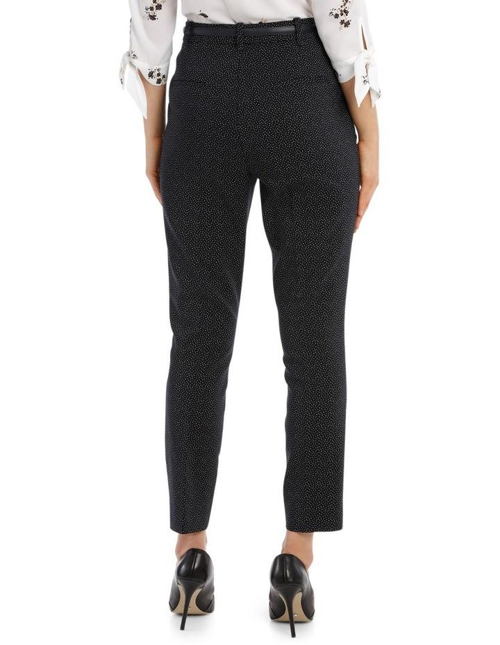 Straight Leg Belted Pant - Scatter Dot image 3