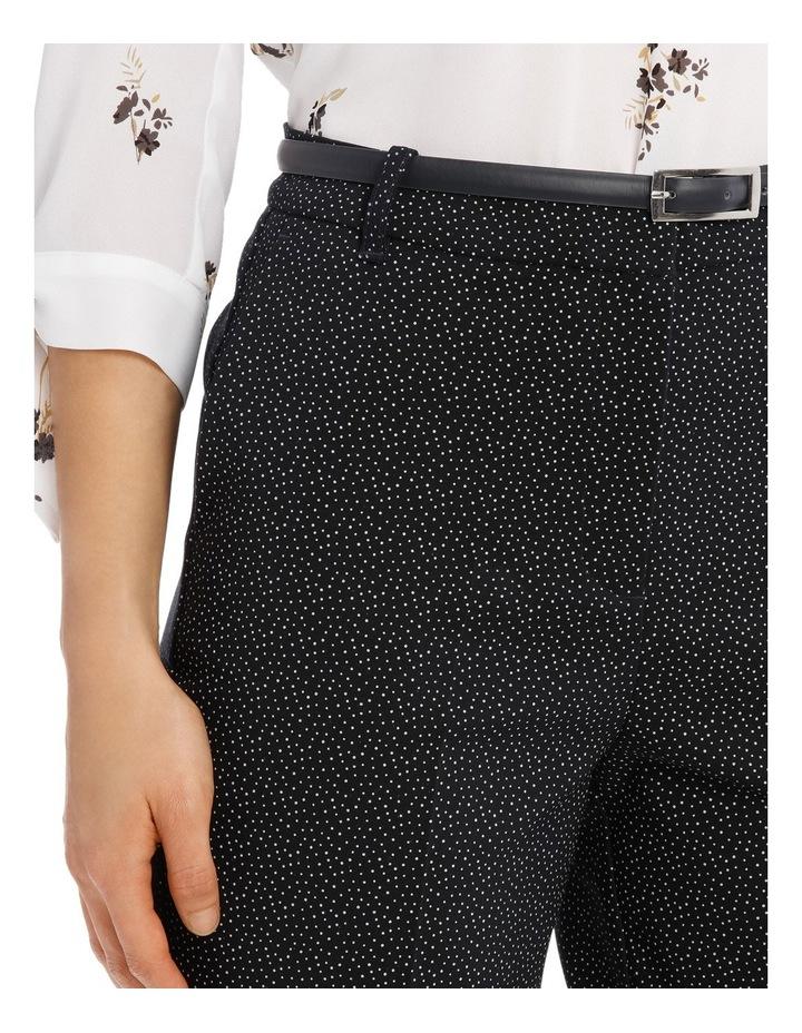 Straight Leg Belted Pant - Scatter Dot image 4