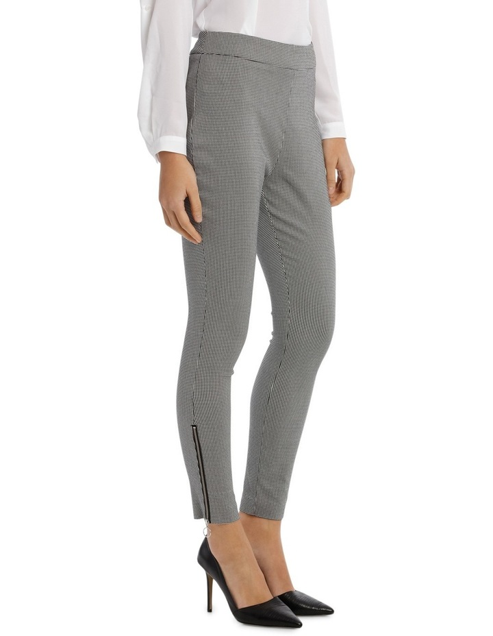 Hounds Tooth Zip Pant image 2