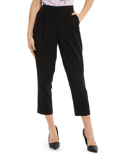 Tapered Cropped Pant - Black