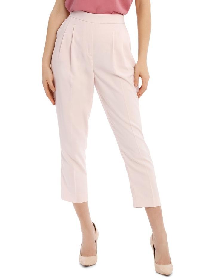 Tapered Cropped Pant - Powder Pink image 1