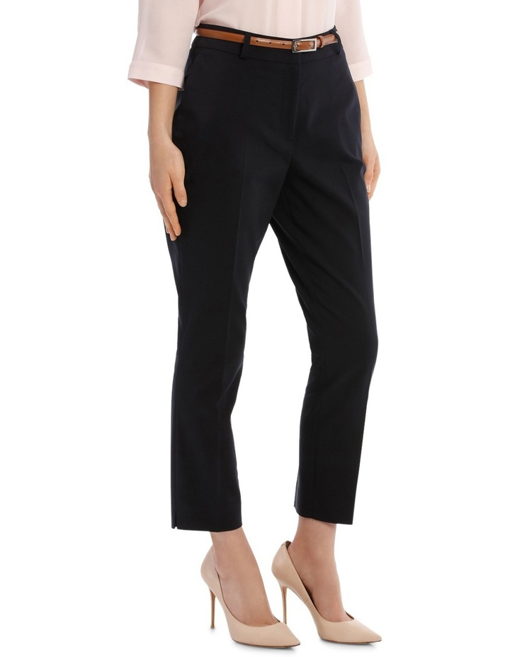Cropped Belted Pant - Navy image 2