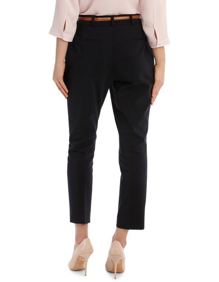 Cropped Belted Pant - Navy image 3