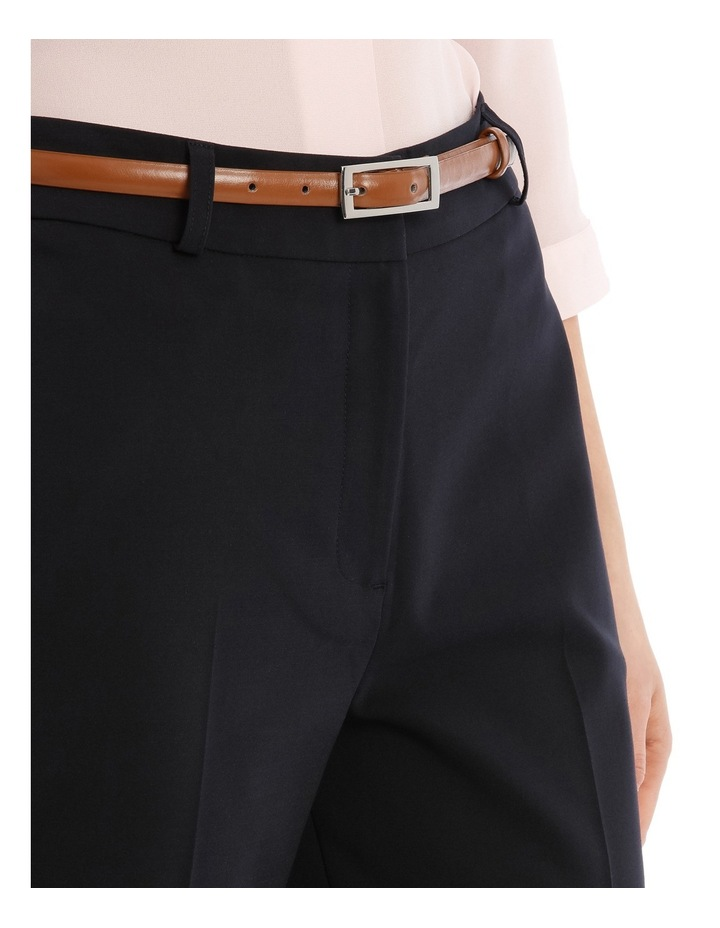 Cropped Belted Pant - Navy image 4