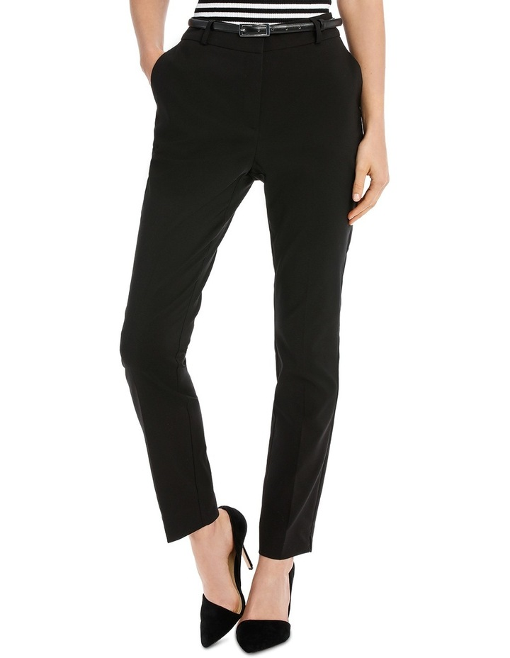 Chloe Belted Smart Pant - Black image 1