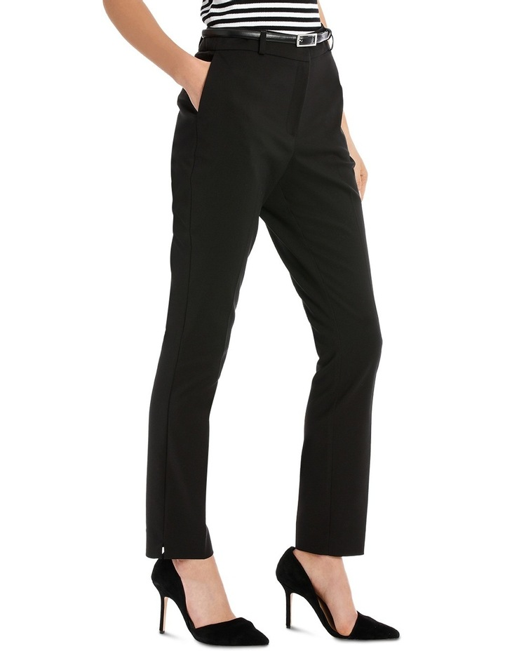 Chloe Belted Smart Pant - Black image 2
