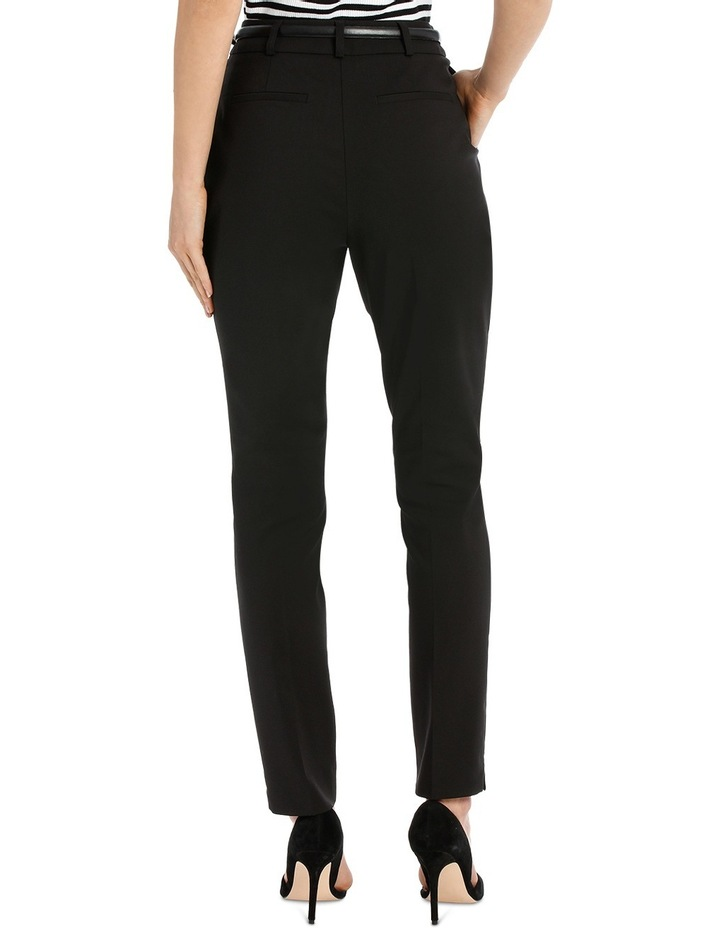 Chloe Belted Smart Pant - Black image 3