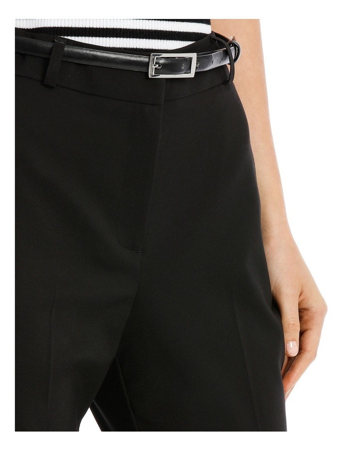 Chloe Belted Smart Pant - Black image 4