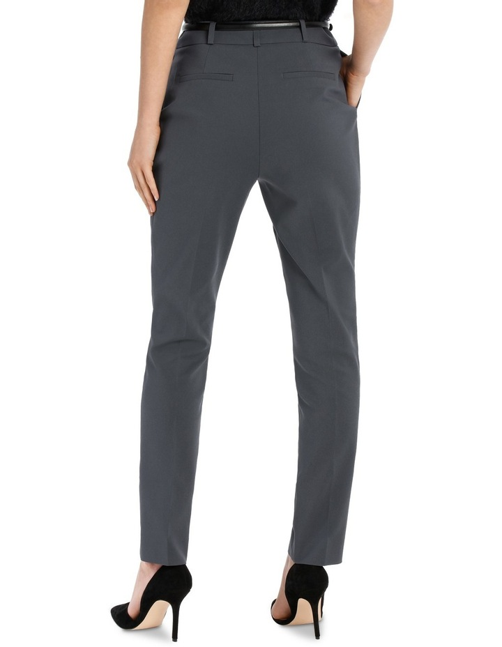 Chloe Belted Smart Pant - Charcoal image 3
