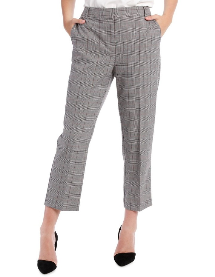 cropped suit pants -check image 1