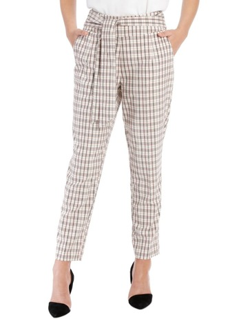 fe9306602b Tokito Tapered Checked Tie Waist Pant