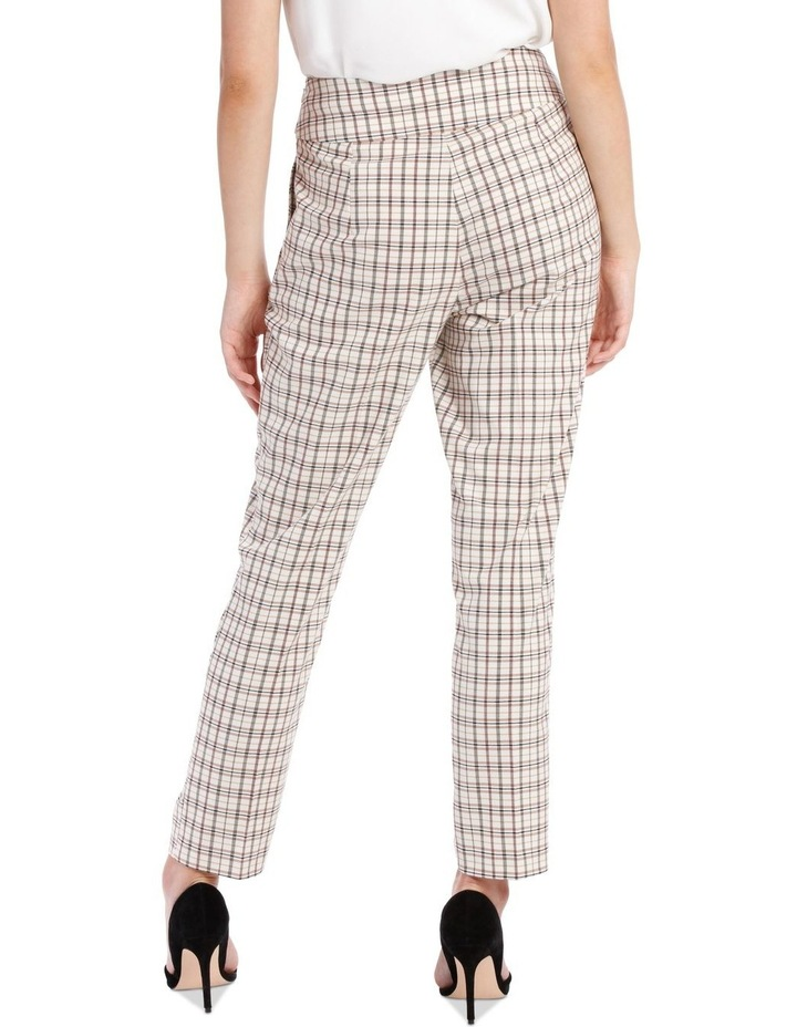 Tapered Checked Tie Waist Pant image 3