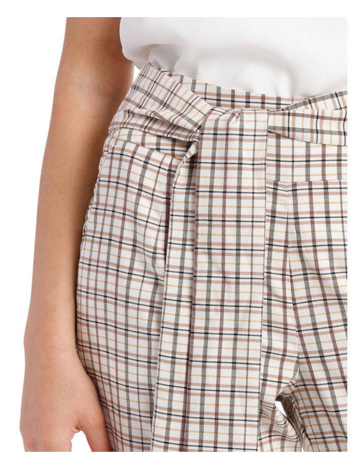 Tapered Checked Tie Waist Pant image 4