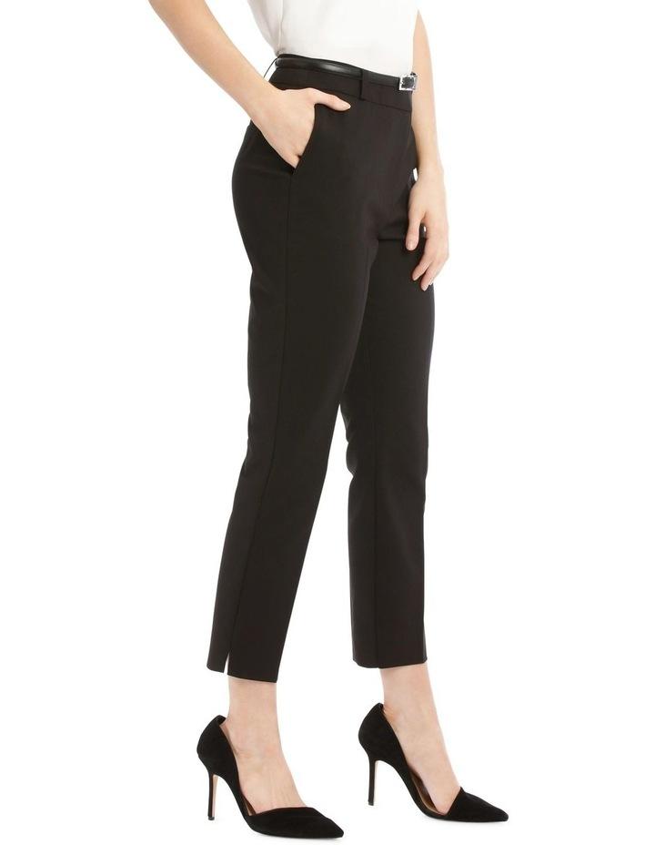Chloe Cropped Belted Pant - Black image 2