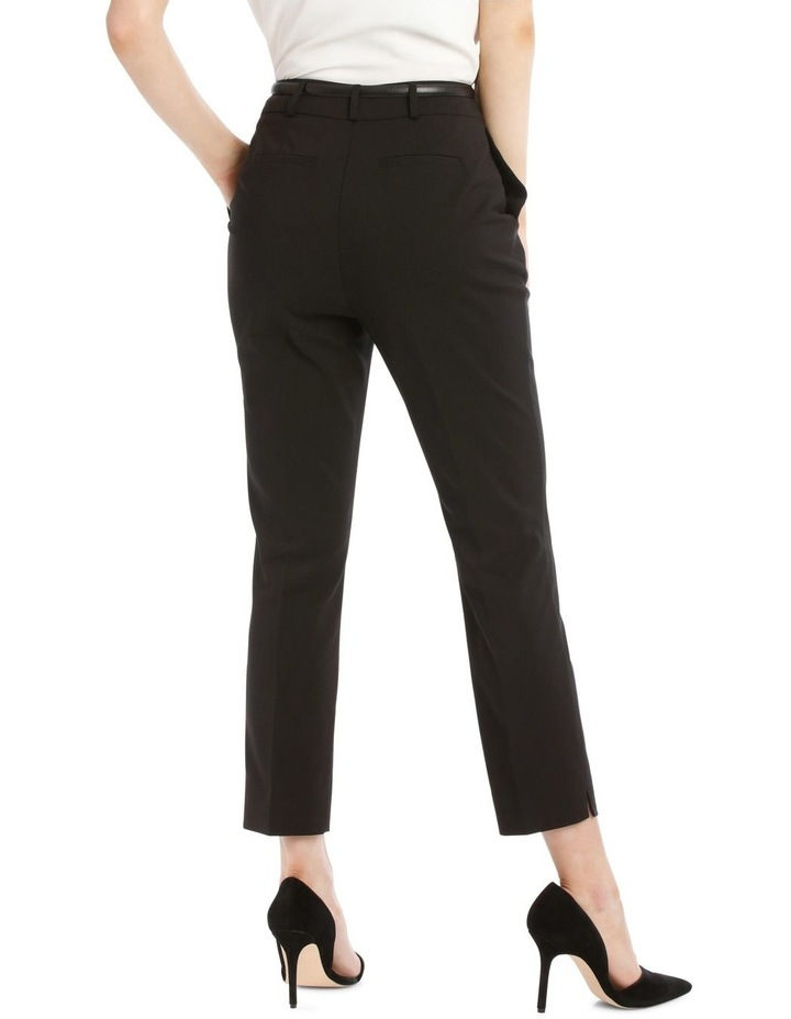 Chloe Cropped Belted Pant - Black image 3