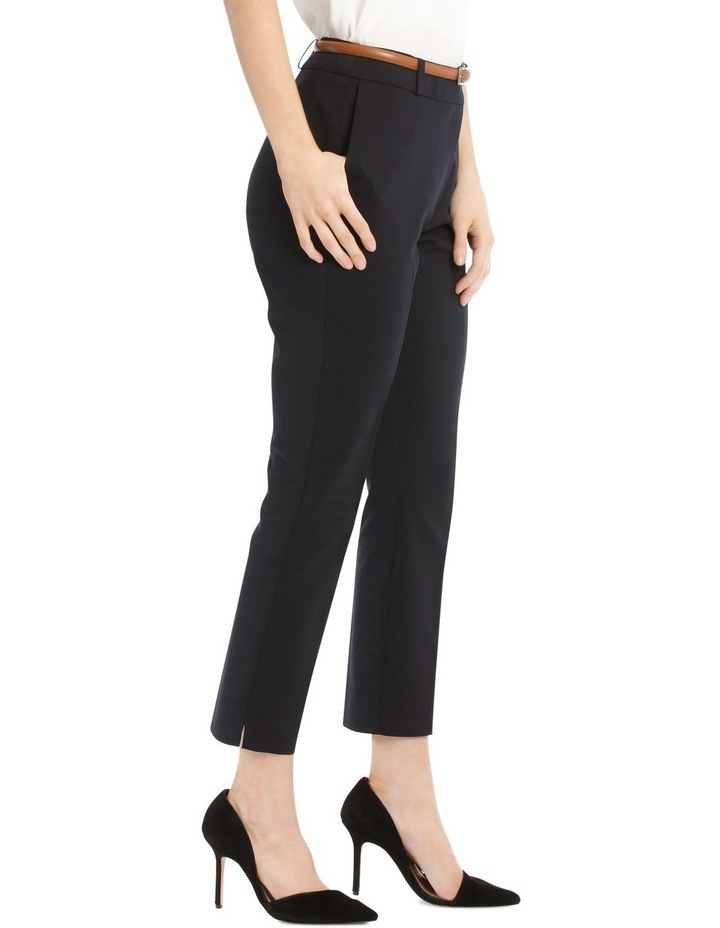 Chloe Cropped Belted Pant - Navy image 2