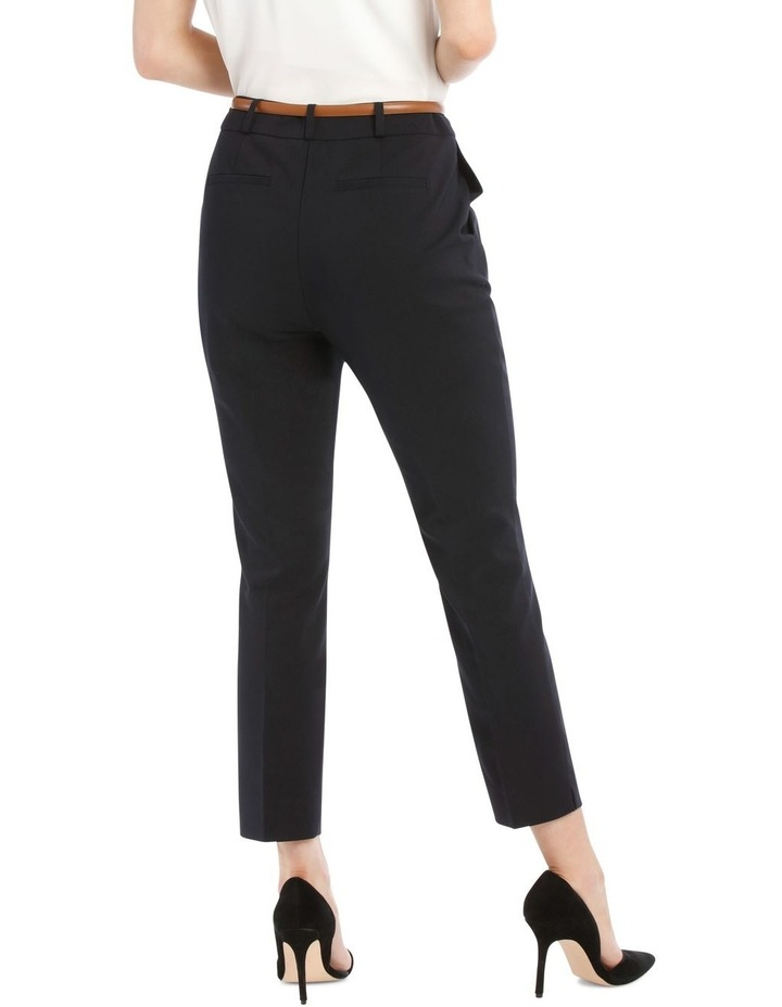 Chloe Cropped Belted Pant - Navy image 3