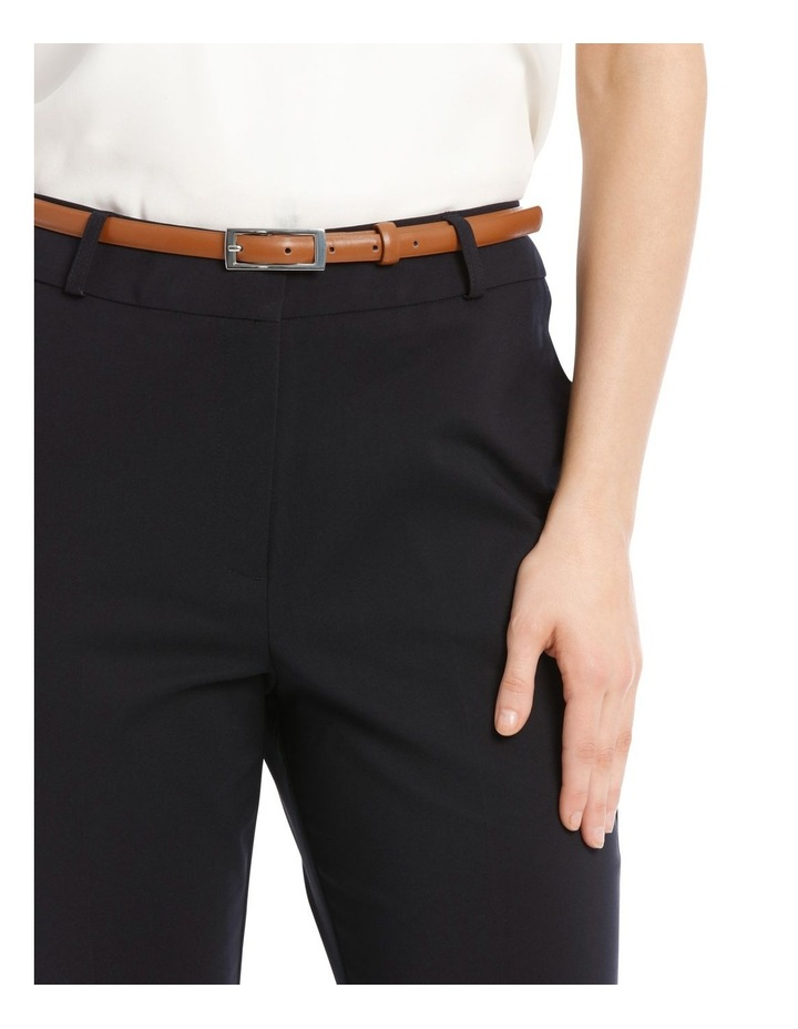 Chloe Cropped Belted Pant - Navy image 4