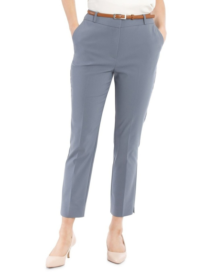 Chloe Cropped Belted Pant - Dusty Blue image 1