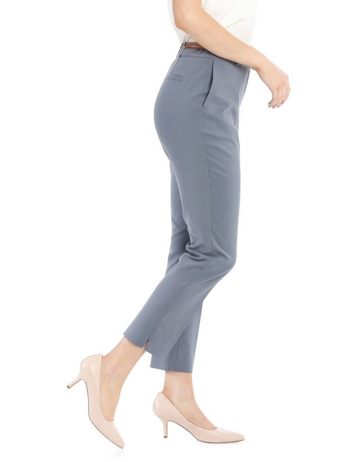 Chloe Cropped Belted Pant - Dusty Blue image 2