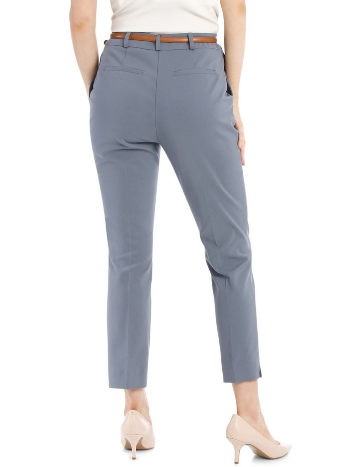 Chloe Cropped Belted Pant - Dusty Blue image 3