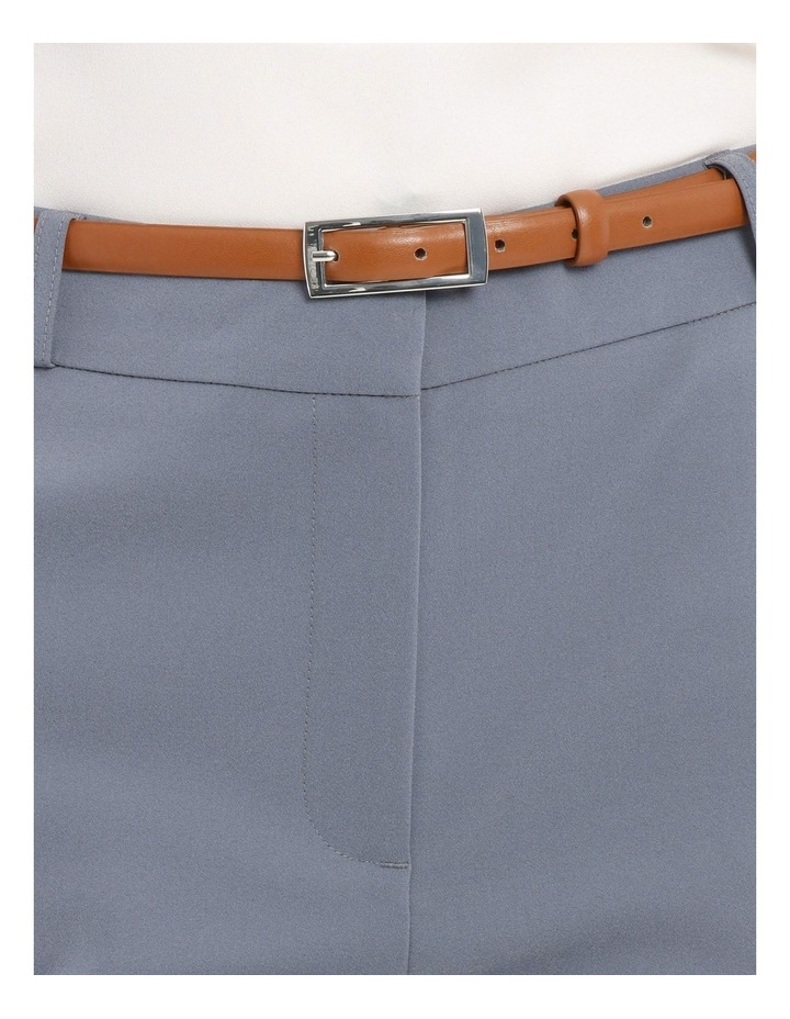 Chloe Cropped Belted Pant - Dusty Blue image 4
