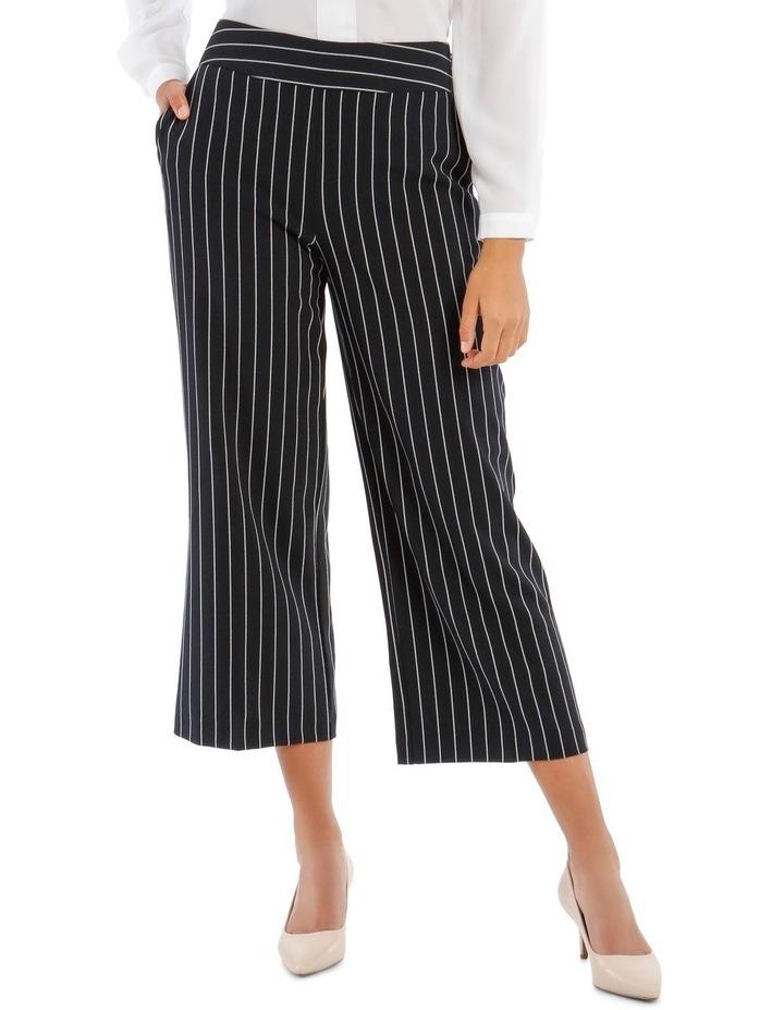 Kiera Wide Leg Culotte - Stripe image 1