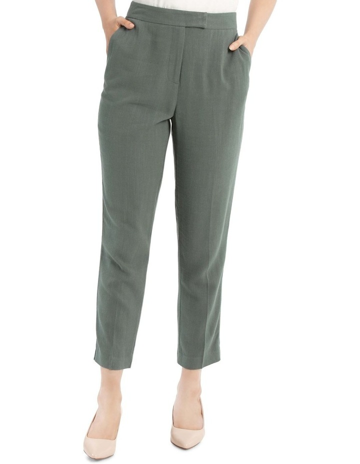 Linen Blend Stove Pipe Pant image 1