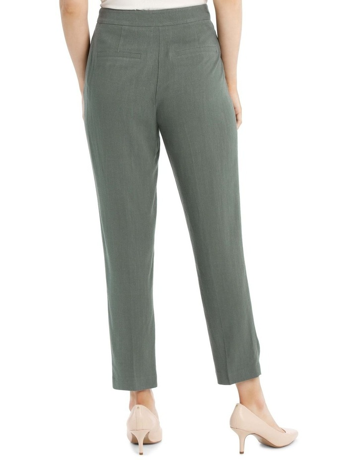 Linen Blend Stove Pipe Pant image 3