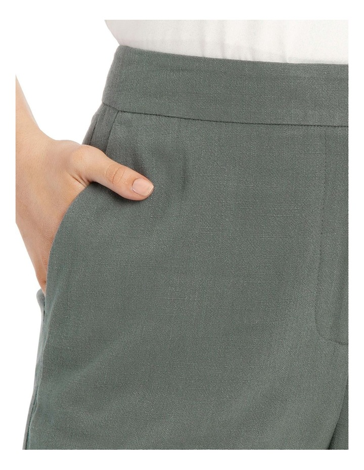 Linen Blend Stove Pipe Pant image 4